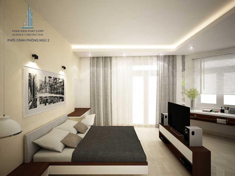 Nhà phố 4 tầng - Phòng ngủ 2 góc 4
