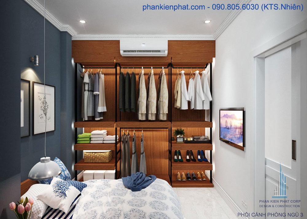 Phòng ngủ 3 của nhà 4x15m 1 trệt 3 tầng đẹp