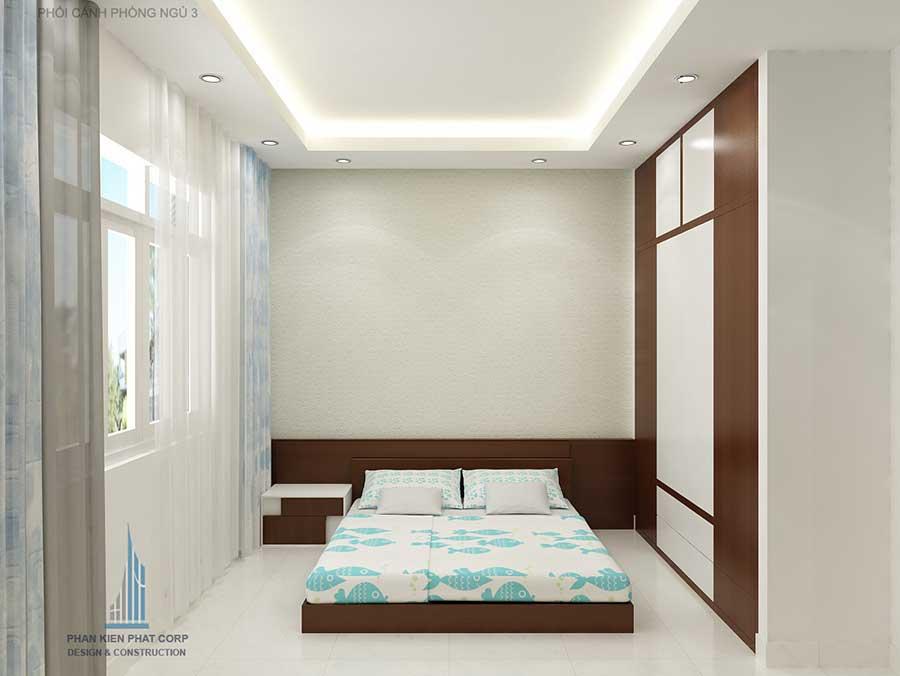 Phòng ngủ 3 góc 1 - nhà phố 3 tầng cổ điển