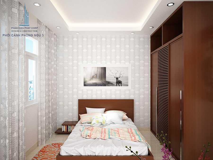 Phòng ngủ con gái - nhà phố 3 tầng hiện đại