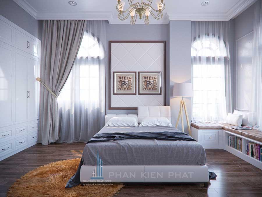 Thiết kế biệt thự cổ điển- Phòng ngủ 3 góc 1
