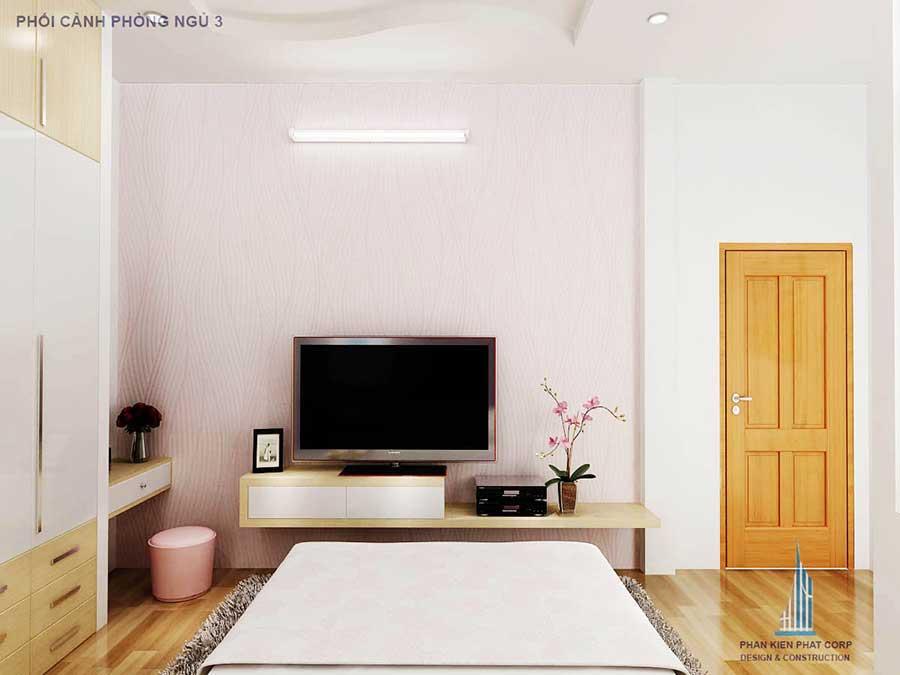 Nhà 2 tầng - Phòng ngủ 3 góc 1
