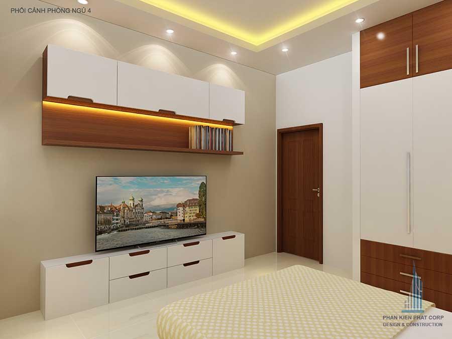 Thiết kế biệt thự - Phòng ngủ 3 góc 1