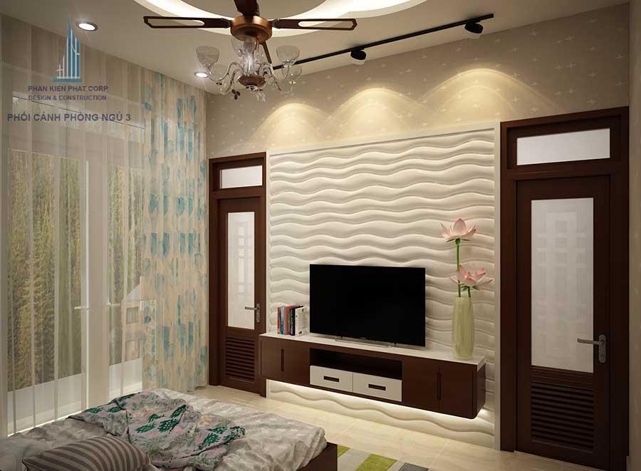 Biệt thự 2 tầng - Phòng ngủ 3 góc 1