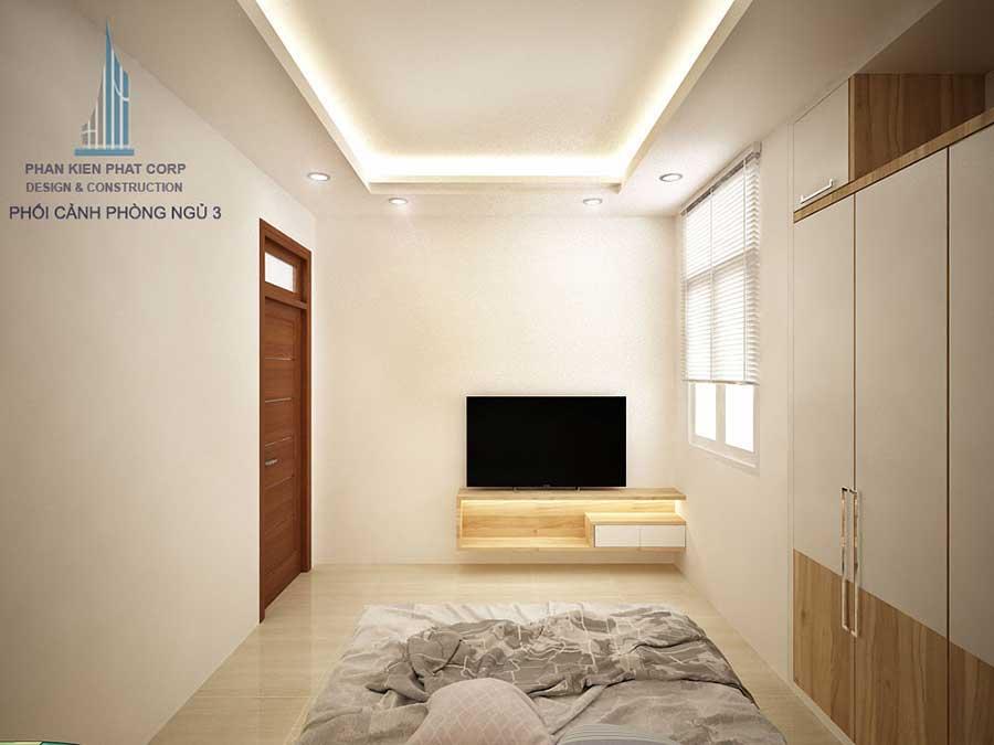 Nhà phố 3 tầng 4x15m - Phòng ngủ 3 góc 1
