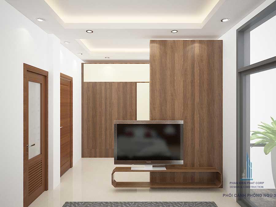 Phòng ngủ 2 - xây nhà 3 tầng 2 mặt tiền
