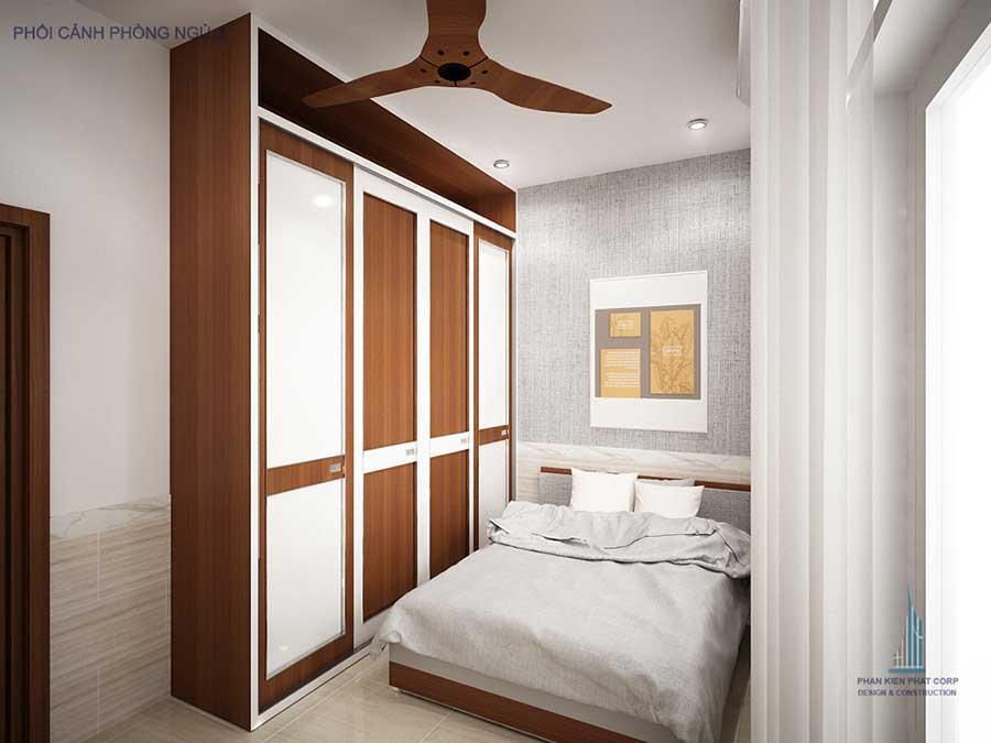 Nhà 4 tầng hiện đại - Phòng ngủ 3 góc 1