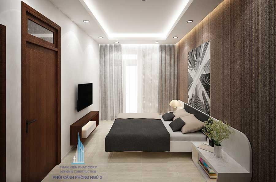 Nhà phố 4 tầng - Phòng ngủ 3 góc 1