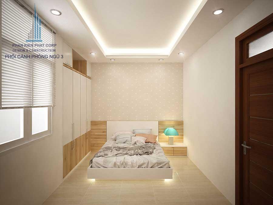 Phòng ngủ 3 góc 2 - nhà ống hiện đại
