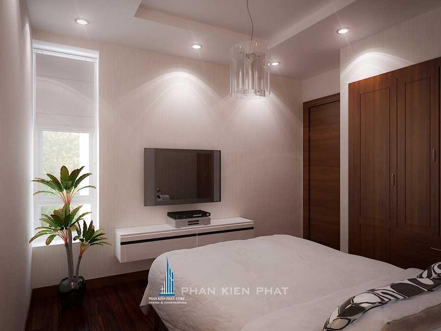 Phòng ngủ 2 view 2 của thiết kế nội thất đẹp