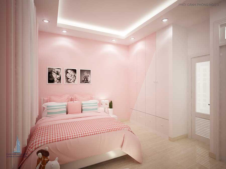 Phòng ngủ 3 góc 2 - nhà 3 tầng đẹp cổ điển