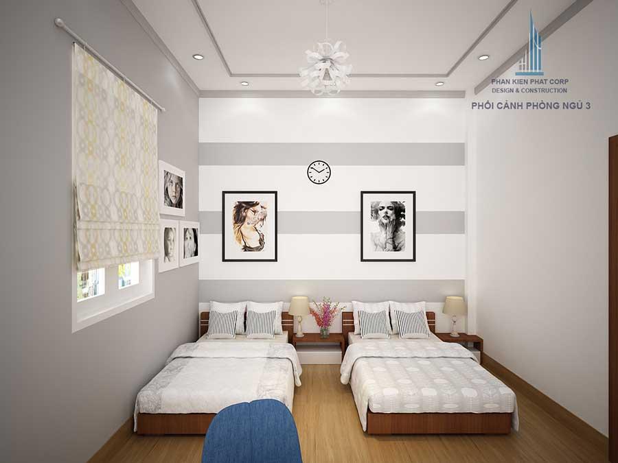 Phòng ngủ của con gái mẫu nhà cấp 4 sân vườn