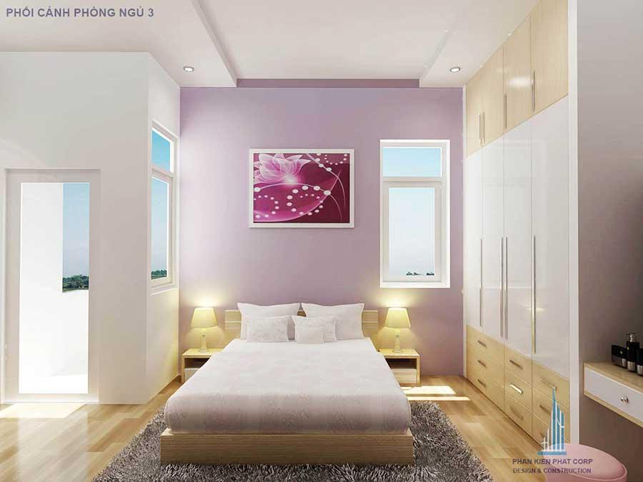 Phòng ngủ 2 - Thiết kế nhà 2 tầng 9x40m