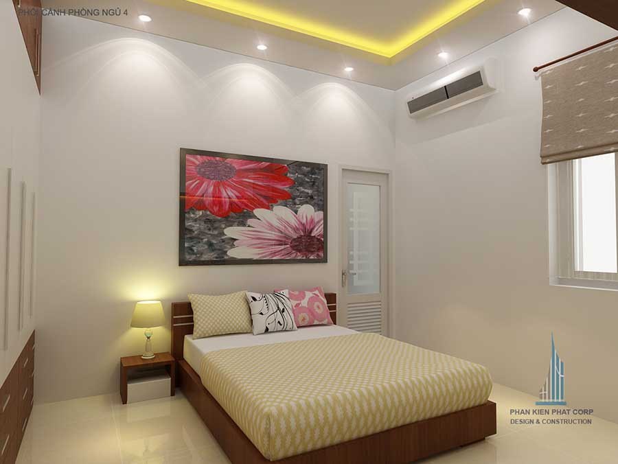 Thiết kế biệt thự - Phòng ngủ 3 góc 2