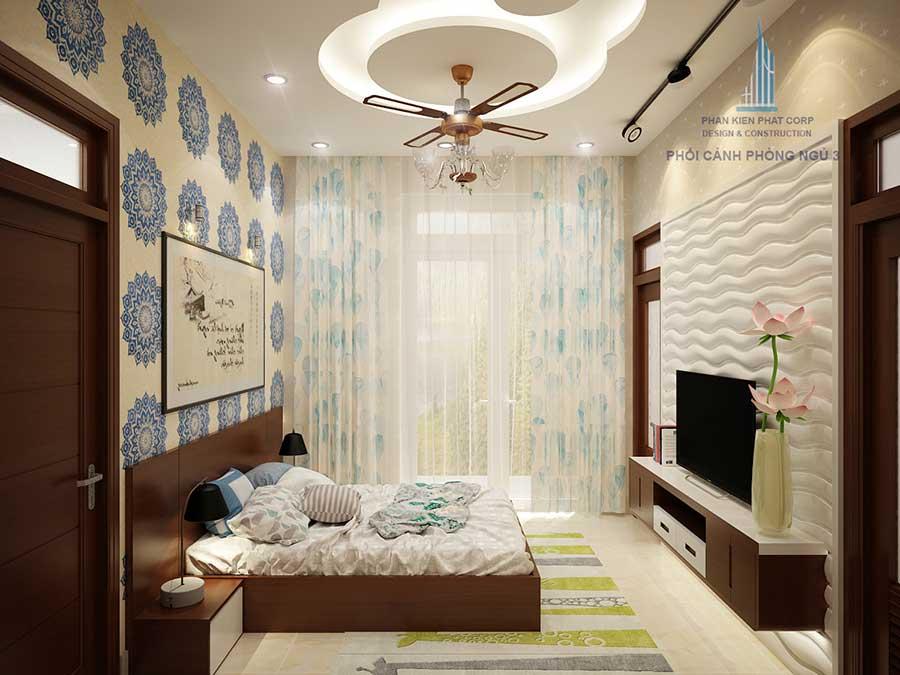 Phòng ngủ 3 - mẫu biệt thự sân vườn 2 tầng đẹp