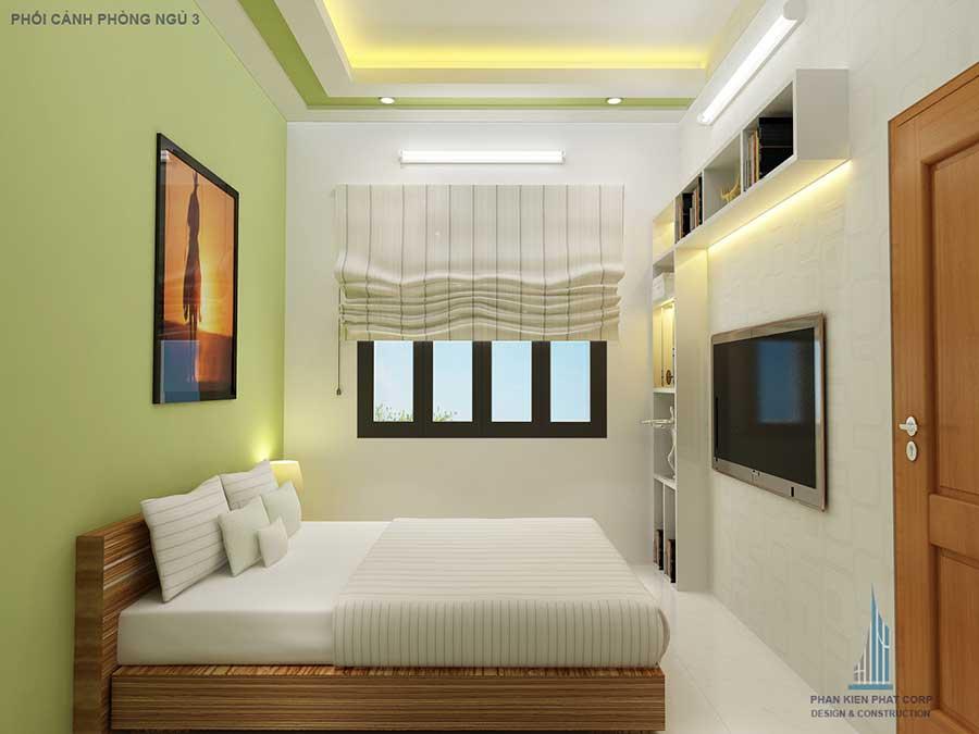 Phòng ngủ 3 - thiết kế xây dựng biệt thự 3 tầng