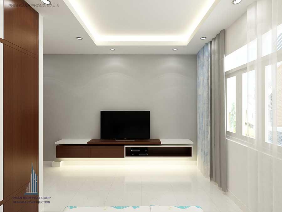 Thiết kế nhà phố - Phòng ngủ 3 góc 2