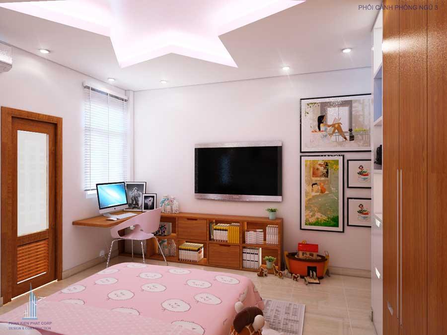 Phòng ngủ 3 góc 2 của nhà đẹp 4 tầng