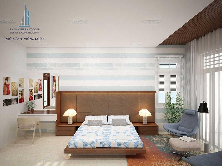 Phòng ngủ con trai - báo giá xây biệt thự