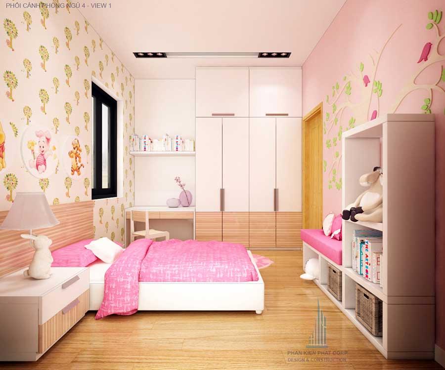 Nhà 2 tầng - Phòng ngủ 4 góc 1