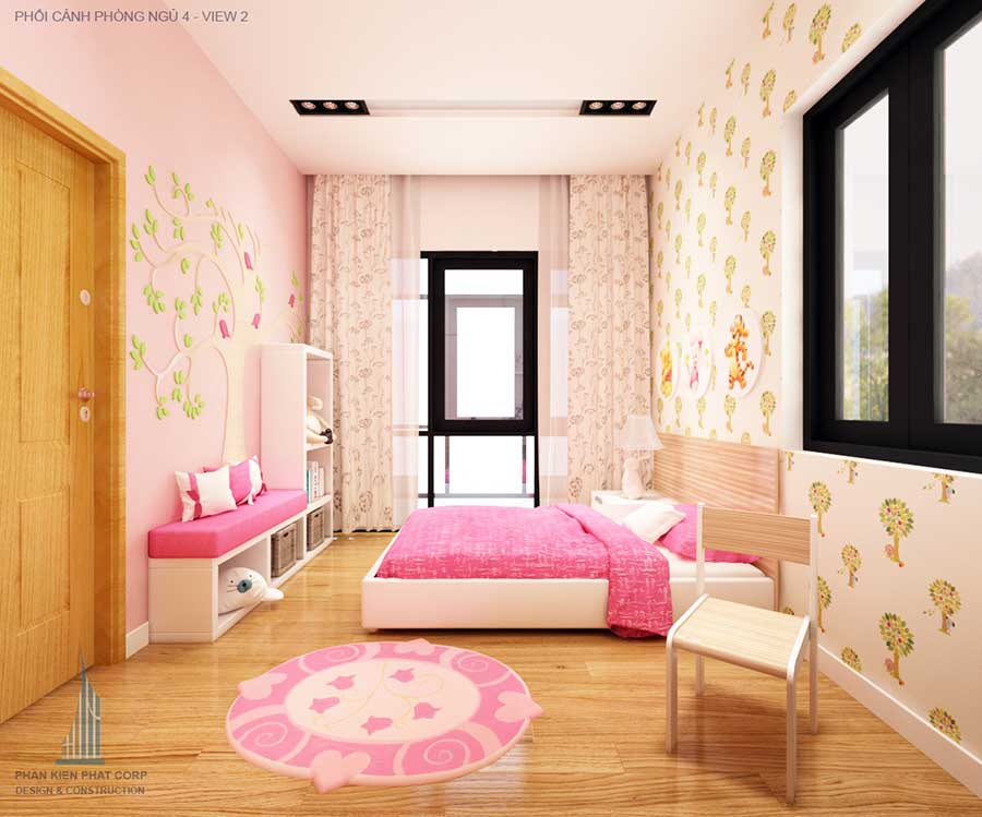 Thiết kế biệt thự - Phòng ngủ 4 góc 2