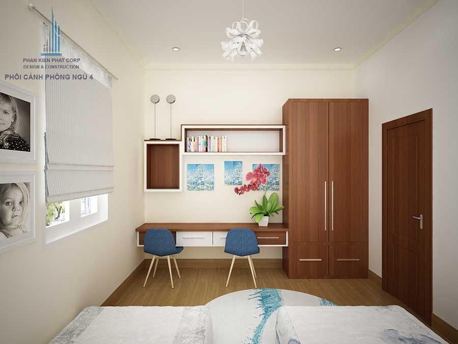 Biệt thự cấp 4 - Phòng ngủ 4 góc 2