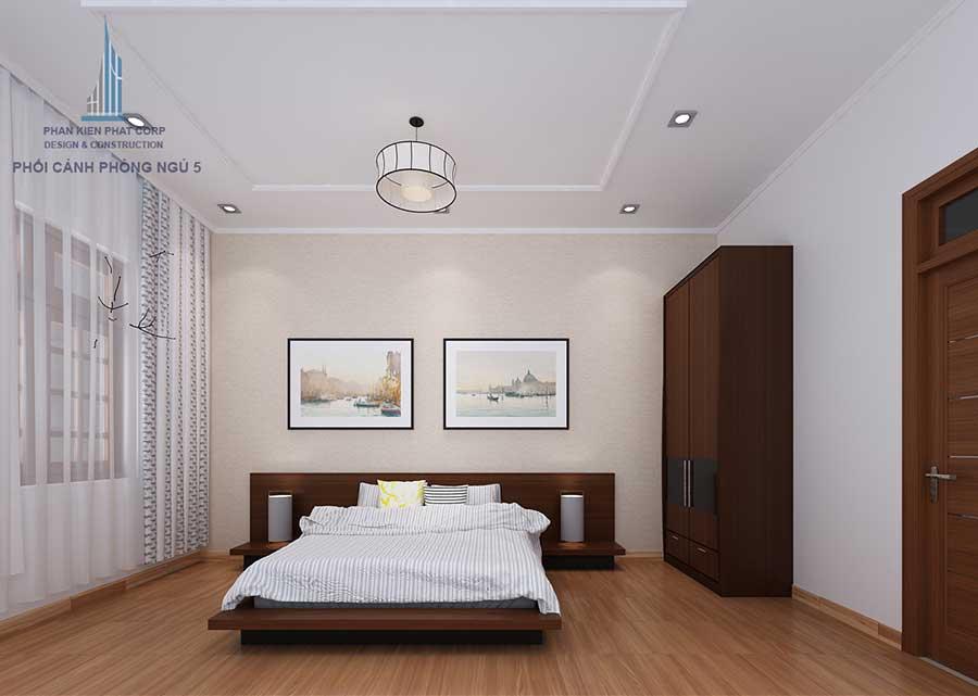 Thiết kế biệt thự sân vườn - Phòng ngủ 5 góc 1