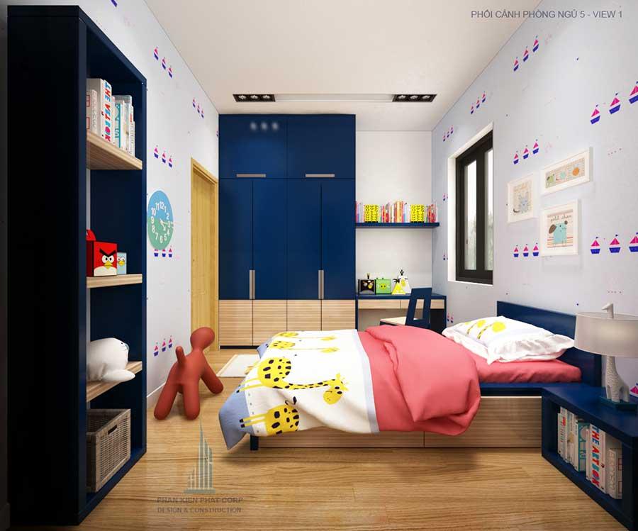 Thiết kế nhà 2 tầng - Phòng ngủ 5 góc 1