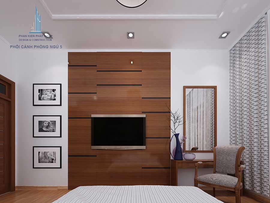 Thiết kế biệt thự sân vườn - Phòng ngủ 5 góc 2