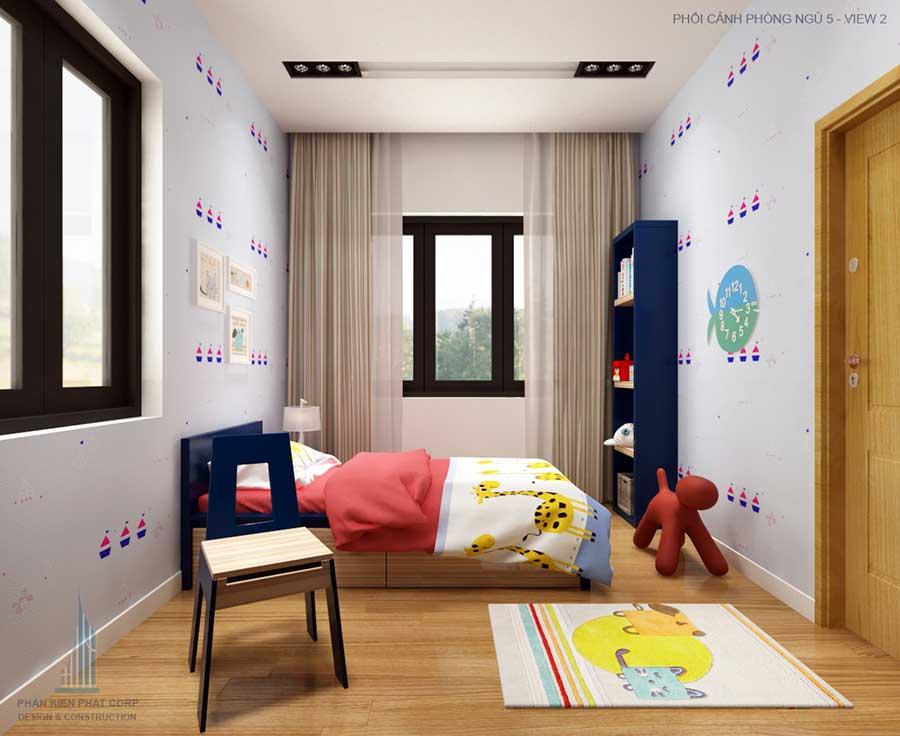 Thiết kế nhà 2 tầng - Phòng ngủ 5 góc 2