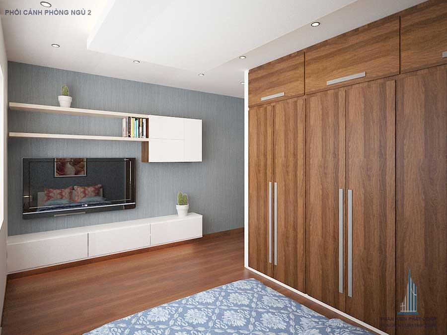 Thiết kế nhà phố - Phòng ngủ góc 1