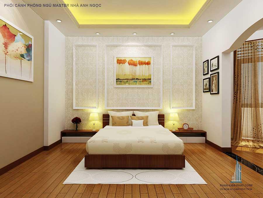 Phòng ngủ master - biệt thự bán cổ điển