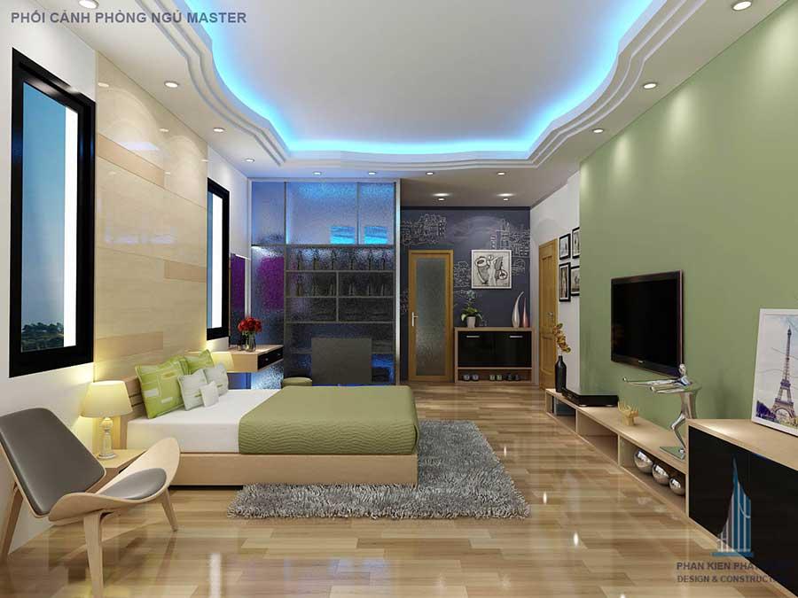 Phòng ngủ master - nhà 2 tầng 9x40m