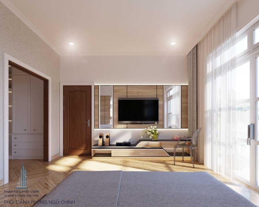 Phối cảnh phòng ngủ Master góc 1