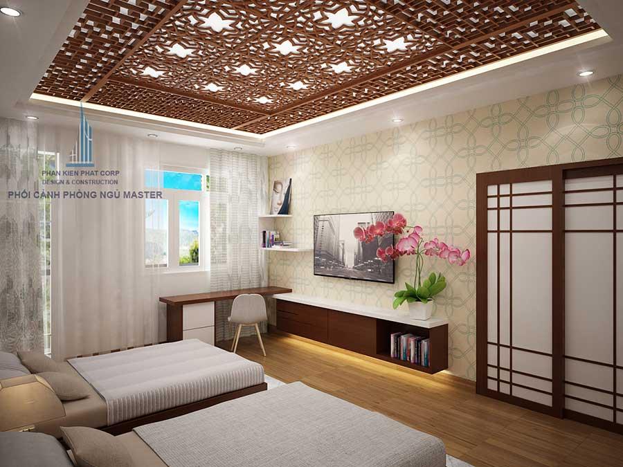 Biệt thự mái nghiêng - Phòng ngủ Master góc 2