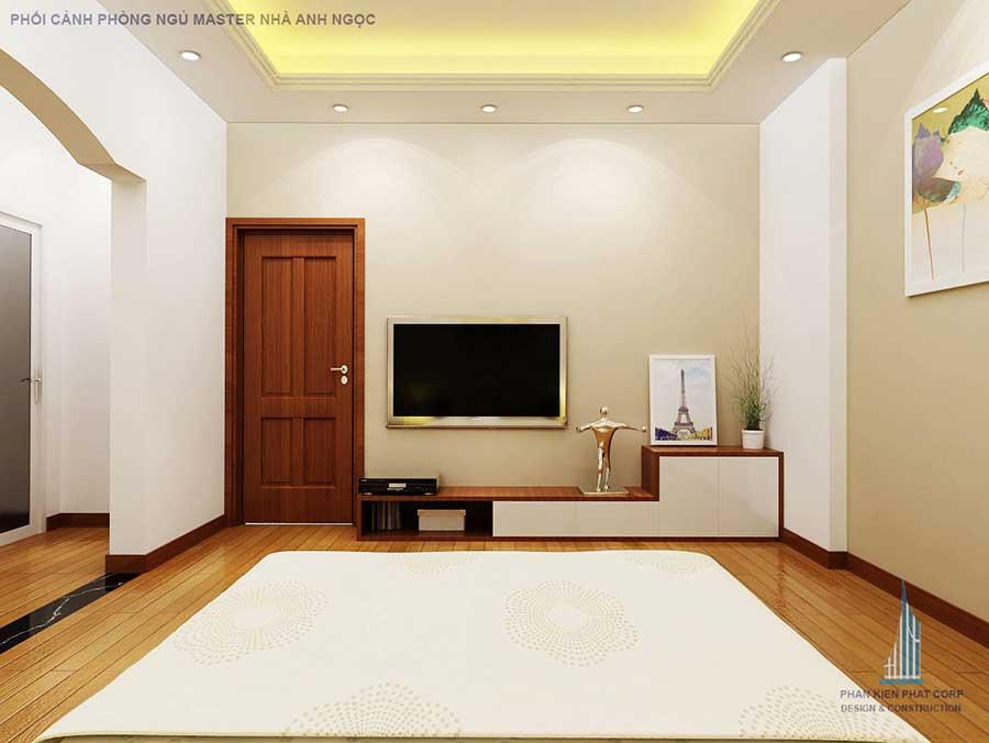 Thiết kế biệt thự - Phòng ngủ Master góc 2