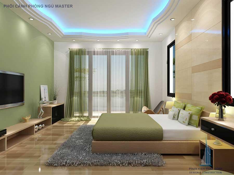 Biệt thự 2 tầng - Phòng ngủ Master góc 2