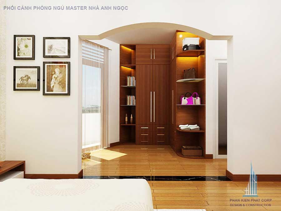 Phòng ngủ master - nhà 3 tầng 10x20m bán cổ điển