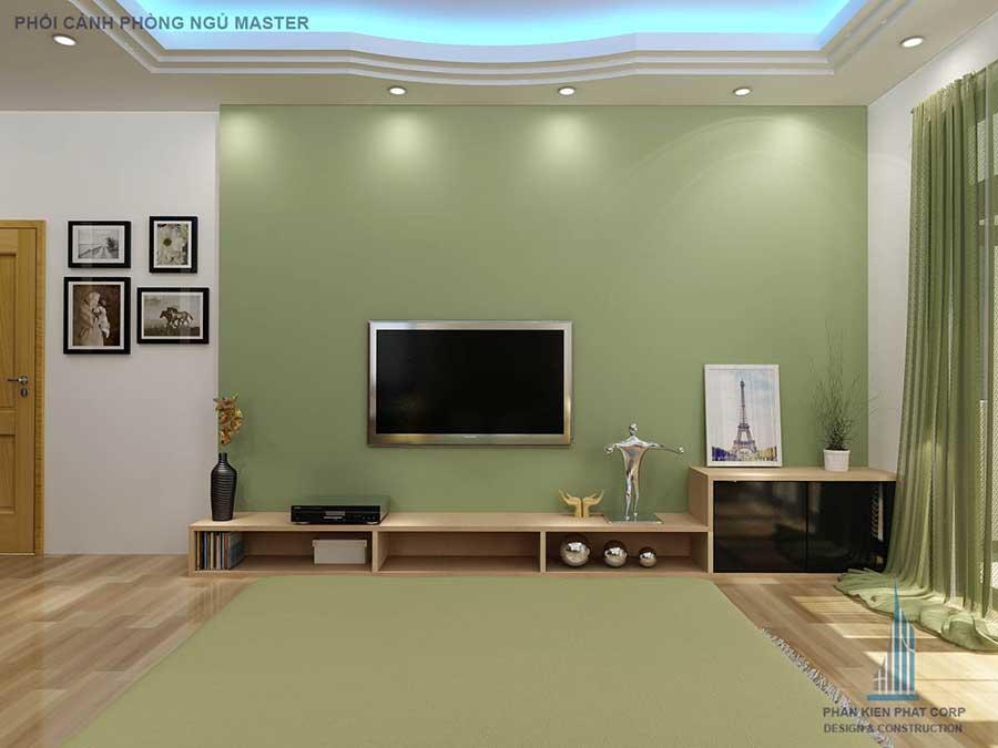 Thiết kế biệt thự - Phòng ngủ Master góc 3