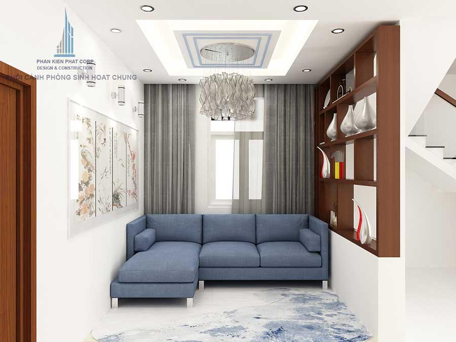 Phòng sinh hoạt chung - nhà bán cổ điển 3 tầng