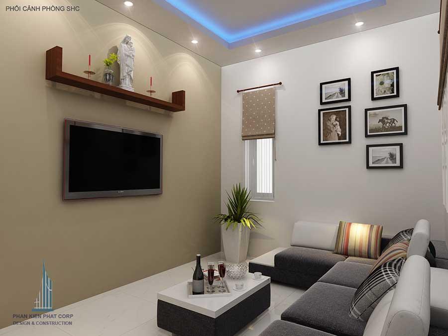 Thiết kế biệt thự 2 tầng  - Phòng sinh hoạt chung
