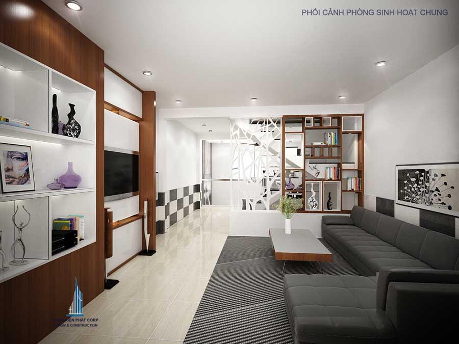 Phòng sinh hoạt chung - nhà 5x15m 5 tầng