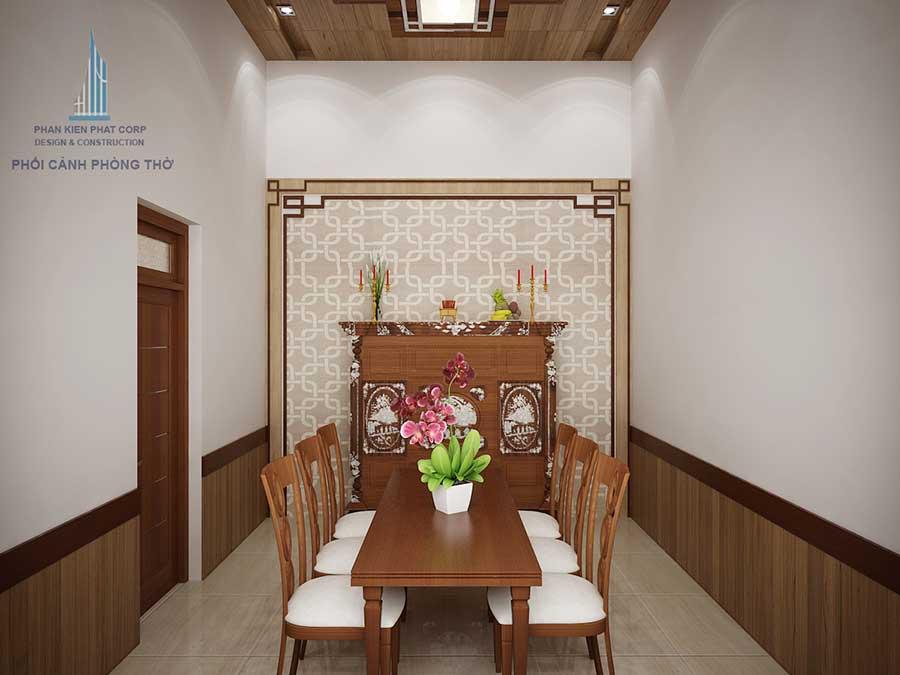 Phòng thờ thiết kế xây dựng nhà cấp 4