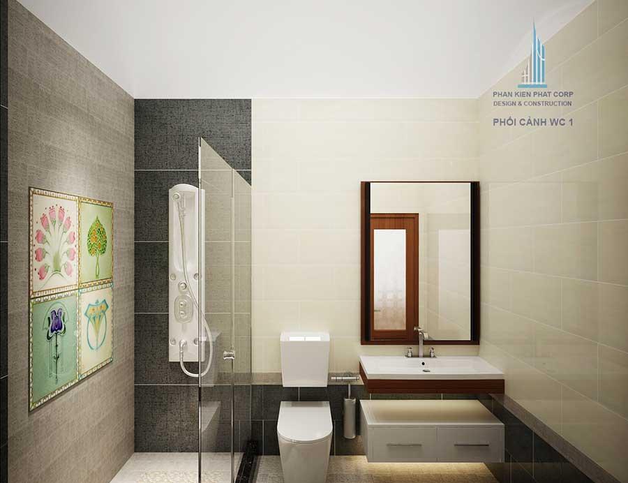 Biệt thự 1 tầng - Phòng vệ sinh 1