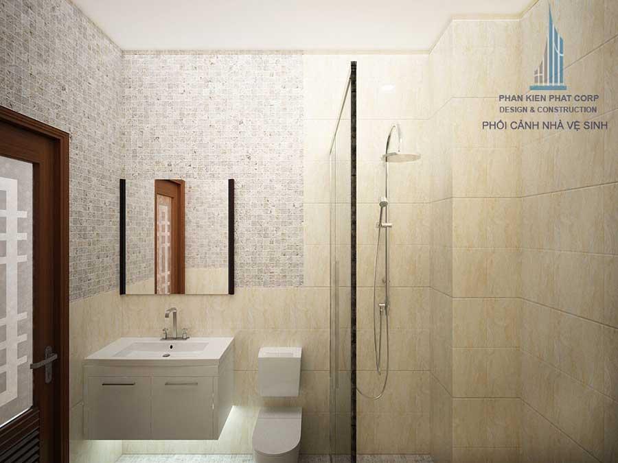 Phòng vệ sinh - nhà 3 tầng phố