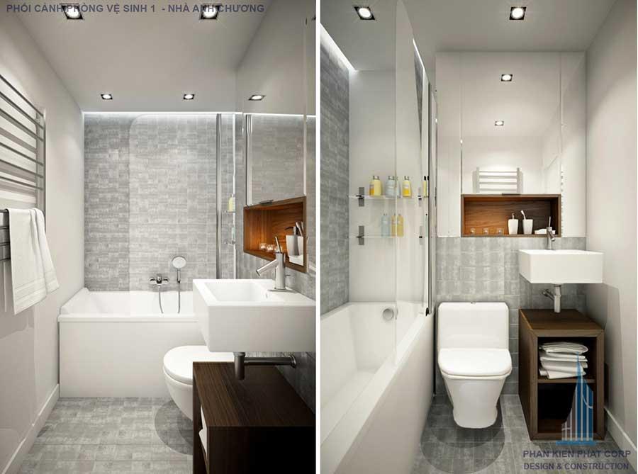 Phối cảnh phòng vệ sinh 2