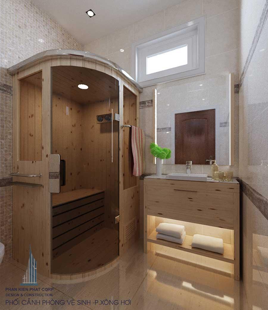Phối cảnh phòng vệ sinh 2 góc 1