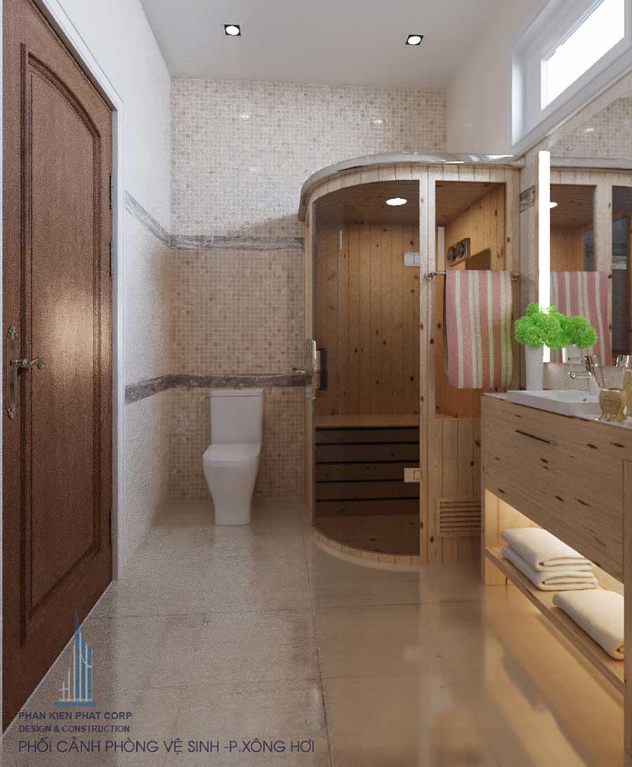 Thiết kế biệt thự bán cổ điển - Phòng vệ sinh 2 góc 2
