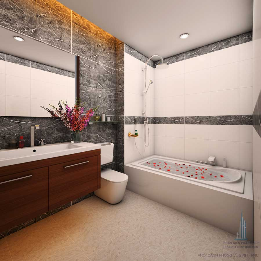 Nhà 4 tầng mặt phố - Phòng vệ sinh