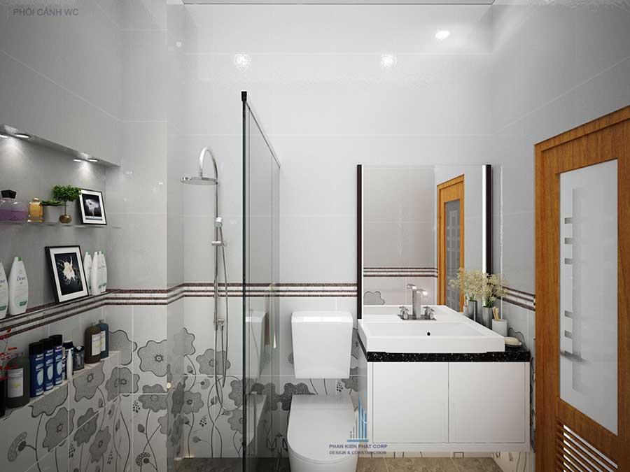 Nhà 4 tầng hiện đại - Phòng vệ sinh góc 1